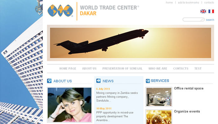 Сайт компании 'World Trade Center Dakar'